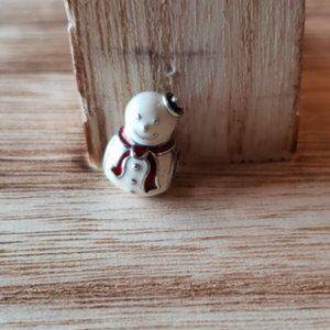 Retired Pandora Snowman charm